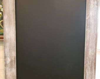 Chalk board with distressed frame