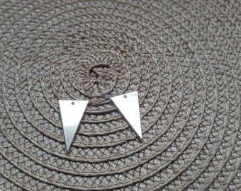 Sequin silver color brass thin triangle pendant