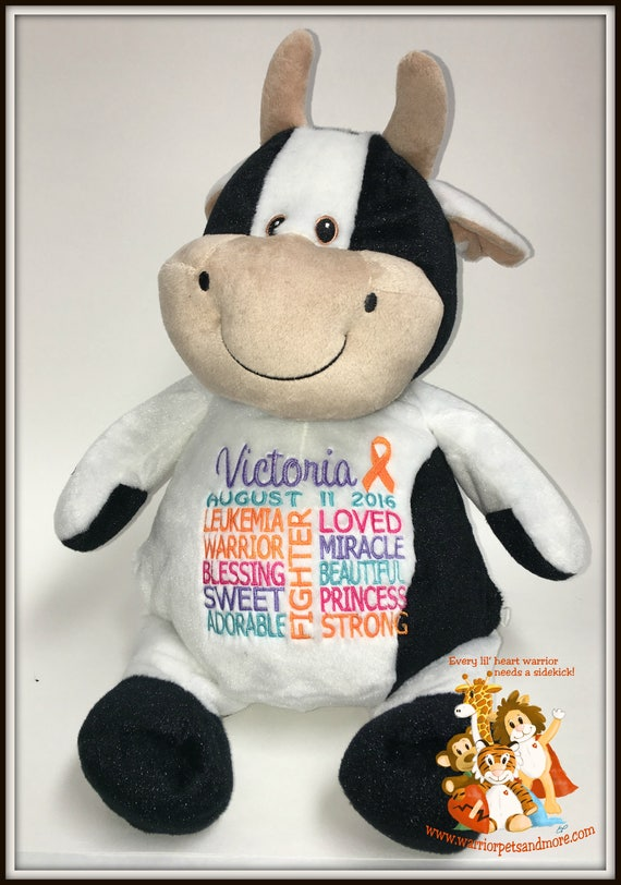 Leukemia Warrior Pet - personalized  Warrior Pet, stuffed animal