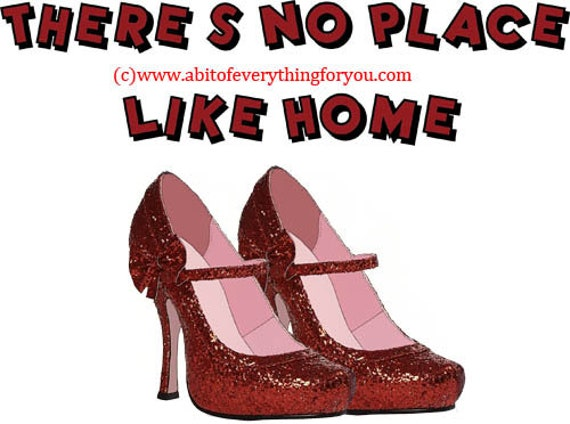 no place like home red sparkle high heel shoes printable art print clipart png download digital image graphics craft scrapbooking home decor