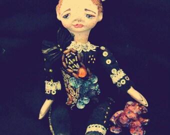 Papiere mache boudoir art gashion prince dolls. A Little prince