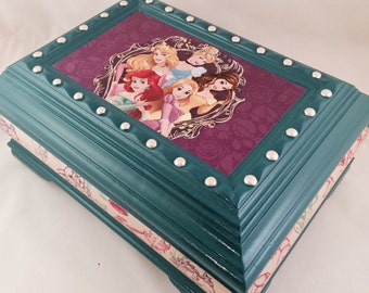 Disney Princesses Upcycled Jewelry Box