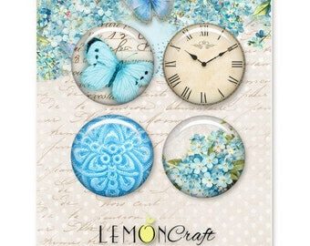 Lemoncraft Forget Me Not Buttons / Badges