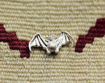 Bat Collar Pin   Silver Bat Charm   Gothic Jewelry   Bat Jewelry   Silver Bat Brooch   Halloween Brooch   Vampire Bat Pins   Vampire Brooch