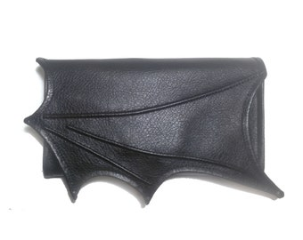 Wallet clutch, Necessary clutch wallet, Goth accordion wallet, Bat wing, Vegan wallet, Women Wallet, Black wallet, Goth wallet, Card Slots