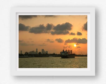Sonnenuntergang Wand-Druck Sonnenuntergang Fotografie New Orleans Kunstdruck New Orleans Art New Orleans NOLA Artwork New Orleans Wand Kunstdrucke