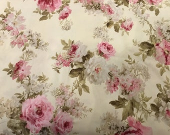 """""""Flower chic"""" pink fabric"""