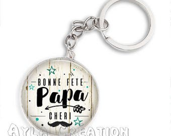 Cabochons glass 25mm #PA_CP16 dad keychain