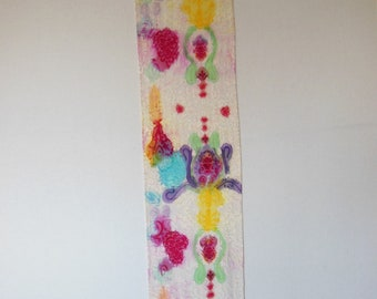 Silk and Rayon Scarf, Hand dyed Scarf, OOAK