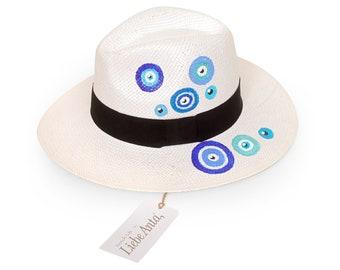 Fedora Handpainted Straw Hat