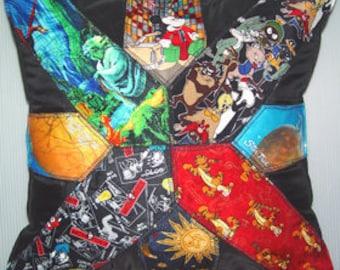 Commission a Memory Pillow- Necktie Motif-Design Size Options