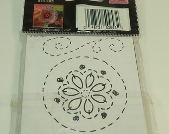 Flower Lil' Stamps Unmounted Stamp Set From See D's Inque Boutique Swirls