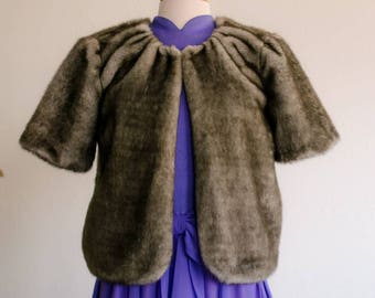 extra small faux fur stole