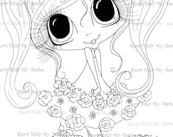 INSTANT DOWNLOAD Digital Digi Stamps Big Eye Big Head Dolls Digi  Img932 By Sherri Baldy