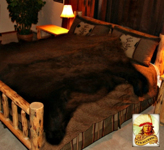 Faux Fur Life Size Bear Skin Accent Rug Faux Hide 6 Great