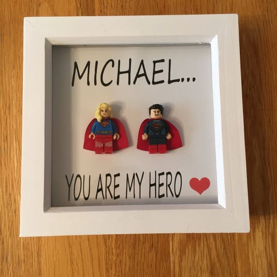 Husband / Boyfriend Superman Superhero Frame, Includes Lego Figure ...