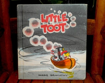 Little Toot 1960 Reprint, Little Toot Hardcover Book, Disney Movie, Children's Book, Little Toot by NewYorkPaperTrail on Etsy