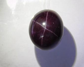 Top Quality Garnet Star Gemstone Cabochon Garnet Star Stone Loose gemstone Flat Back Garnet Star 4 Line Star Garnet for Ring 27 Cts. R-5194