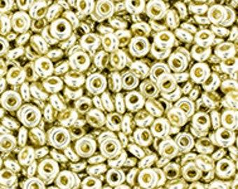 TOHO Japanese Seed Beads - Demi Round 11/0 : PF558 - PermaFinish - Galvanized Aluminum - 10 grams