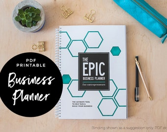 The EPIC Business Planner for Entrepreneurs - Business Planner, PDF printable