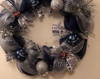 Dallas Cowboys Football Wreath