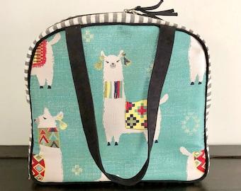 Atenti MamaLLama Bonnie Alpaca Image Large Knitting Project Bag, Atenti Knitting Bag, Zipper Knitting Caddy, Yarn Caddy Mother's Day Gift
