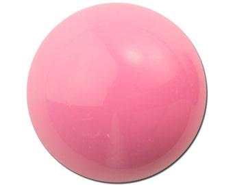 Vintage Light Pink Acrylic Domed Cabochons 24mm (4) cab835J