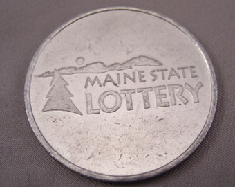 "Vintage Maine State Lottery Token - 1970s - Aluminum 1 1/2"" Dia"