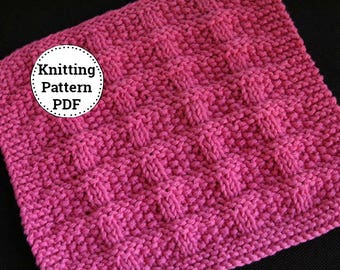 KNITTING PATTERN-Curtain Call, Dishcloth Pattern