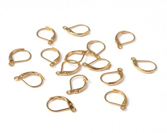 Leverback Ear Wires Gold Ear Wires Lever Ear Wires Gold Earwires Wholesale Findings Wholesale Ear Wires Gold Leverback Ear Wires