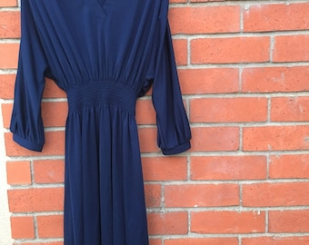 Navy bat wing dress