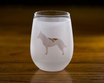 Australian Cattle Dog Custom Wine Glass Set