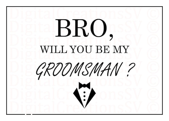 Simplicity image throughout will you be my groomsman printable