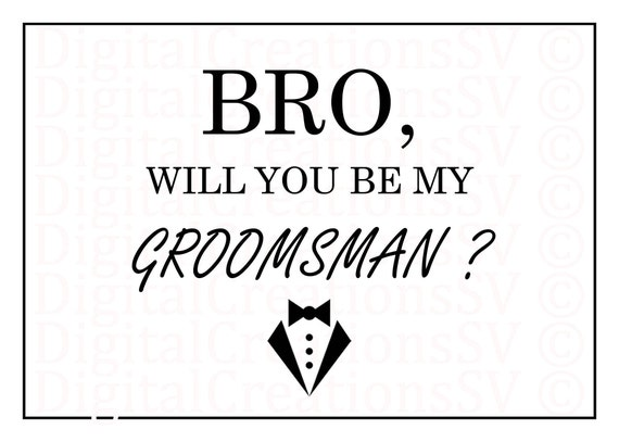 Wild image in will you be my groomsman printable