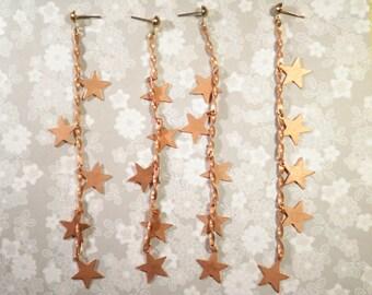 3 Pairs of Copper Star Earrings
