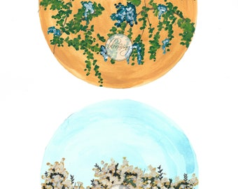 Printable Floral Art; Digital Art Download; Art Print; Floral Art; Home Decor