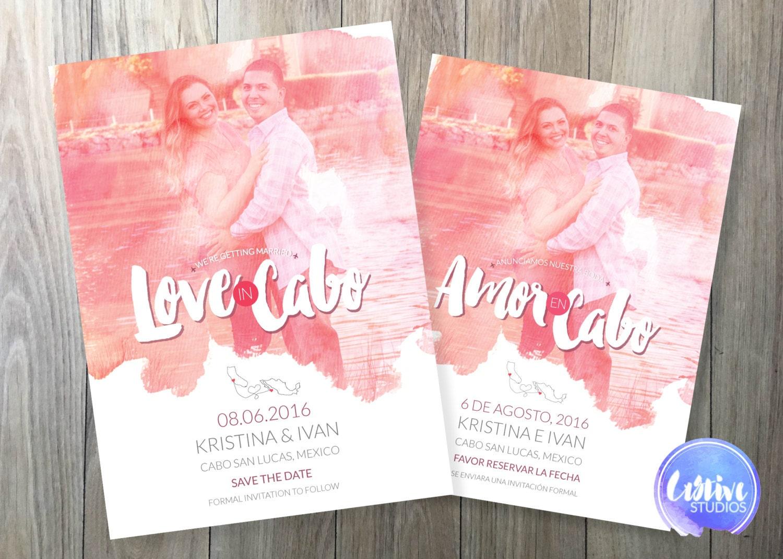 Wedding save the date english spanish bilingual zoom stopboris Image collections