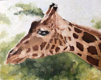 Giraffe Malerei Giraffe Kunstdruck Giraffe - Art Print - von original-Gemälde von J Coates