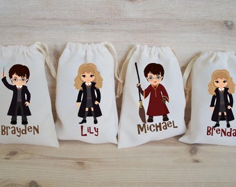 Harry Potter Favor Bags Wizard Party Favors Personalized Party Gift Bags Loot Bags Goodie Bags Birthday Party Favors Harry Potter Party