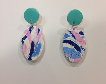 Oval drop earrings - 'Elle'
