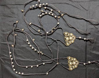 Gold and Pearl Barefoot Sandals