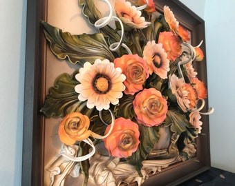 Hand Made Leather Floral Art 3D Portrait