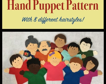 Hand Puppet PATTERN | PDF Full Color Pattern Only (Instant Download) | Great for Imaginative Play! | Felt | Joy School | Joy Boy