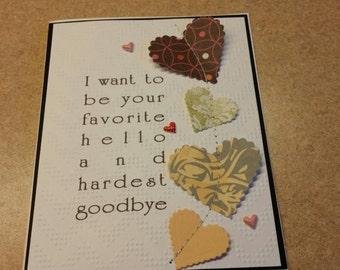 Sewn Handmade Love Card