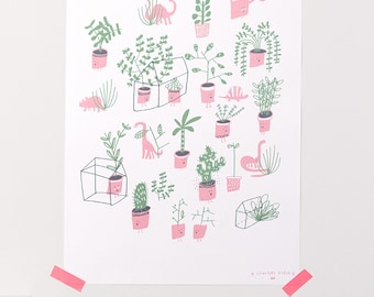 A4 poster / terrariums and funny plants