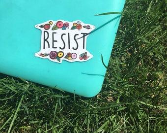 Resist Laptop Sticker - Vinyl Sticker - Notebook Sticker - Laptop Decal - Feminist Sticker - Vinyl Decal - Political Sticker - Art Decal