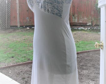 bust 34 nylon cream dress slip made in usa