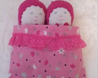 Pretty in Pink Twin Sock Dolls
