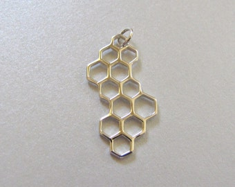 Silver Honeycomb Charm