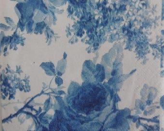 2 napkins pink blue 25x25cm (308)